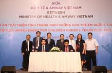 Bộ Y tế và Amway Việt Nam hợp tác cải thiện dinh dưỡng cho trẻ em
