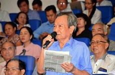 Cử tri TP.HCM: Trung ương cần phòng chống tham nhũng quyết liệt hơn