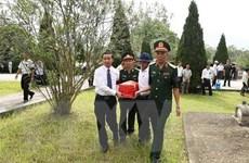 Truy điệu hài cốt liệt sỹ quân tình nguyện Việt Nam hy sinh tại Lào