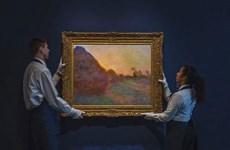 Bức họa ''Đống rơm'' của Claude Monet được bán với giá kỷ lục