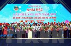 Khai mạc Lễ hội Làng Sen năm 2019 mừng sinh nhật Bác