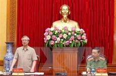 Đoàn Tiểu ban Văn kiện Đại hội làm việc với Đảng ủy Công an Trung ương