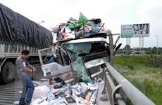 Tiền Giang: Tai nạn trên cầu Rạch Miễu, 2 người tử vong