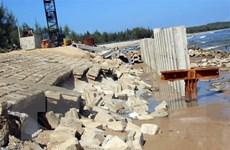 Quảng Nam: Hoàn thành sửa chữa kè biển Tam Hải bị sạt lở nghiêm trọng