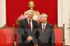 Thường trực Ban Bí thư Trần Quốc Vượng tiếp Phó Chủ tịch Hạ viện Séc