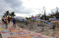 Quảng Nam: Khánh thành ''Con đường thuyền thúng'' ở bãi biển Tam Thanh