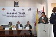 Việt Nam-Mozambique xúc tiến hợp tác đầu tư, thương mại và du lịch