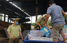 Bình Phước tiến hành tiêu hủy hơn 1 tấn trái cây nhập lậu