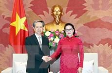Chủ tịch Quốc hội Nguyễn Thị Kim Ngân tiếp Đại sứ Trung Quốc Hùng Ba