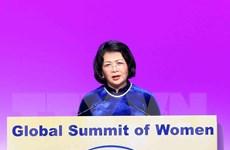 Phó Chủ tịch nước phát biểu tại Hội nghị Thượng đỉnh Phụ nữ Toàn cầu