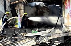 An Giang: Cháy lớn tại quán cơm làm thiệt hại bốn căn nhà
