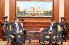 Lãnh đạo Thành phố Hồ Chí Minh tiếp Phó Tổng Thư ký Quốc hội Hàn Quốc