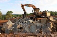 Bình Phước: Phát hiện công trường khai thác đá trái phép quy mô lớn