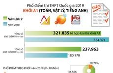 [Infographics] Phổ điểm thi Trung học phổ thông Quốc gia 2019 khối A1