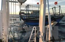 9 ngư dân tàu NA 95899 TS mất tích: Đã nâng được mũi tàu đắm lên