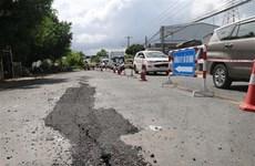 An Giang: Tạm ngừng lưu thông trên Quốc lộ 91 đoạn qua xã Bình Mỹ