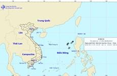 Áp thấp nhiệt đới trên Biển Đông đã suy yếu thành một vùng áp thấp
