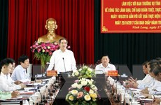 Đoàn kiểm tra của Bộ Chính trị làm việc tại tỉnh Vĩnh Long