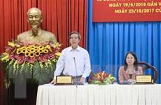 Đoàn kiểm tra của Bộ Chính trị làm việc với Thường vụ Tỉnh ủy An Giang