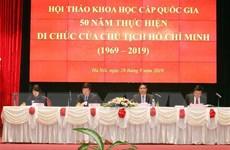 Di chúc của Chủ tịch Hồ Chí Minh là văn kiện lịch sử vượt thời gian