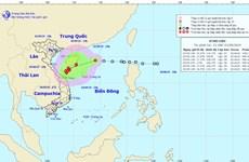Áp thấp nhiệt đới cách quần đảo Hoàng Sa khoảng 350km