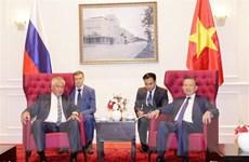 Bộ Công an Việt Nam và Bộ Nội vụ Nga đẩy mạnh quan hệ hợp tác