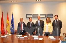 Trưởng Ban Kinh tế Trung ương thăm và làm việc tại Tây Ban Nha