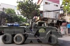 Hà Nội tổ chức diễn tập ứng cứu thảm họa cháy, nổ hóa chất độc