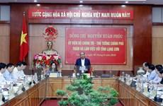 Thủ tướng Nguyễn Xuân Phúc làm việc với lãnh đạo tỉnh Lạng Sơn