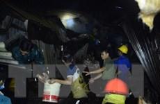 Cà Mau: Cháy khu chợ tạm thị trấn Sông Đốc, 10 kiốt bị thiêu rụi