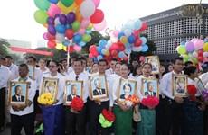 Điện, Thư chúc mừng kỷ niệm 66 năm Quốc khánh Campuchia