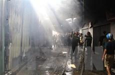 Ninh Bình: Đã xác định được nguyên nhân gây cháy chợ Gián