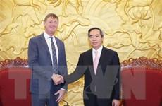 Trưởng ban Kinh tế Trung ương tiếp Phó Chủ tịch Tập đoàn dầu khí Total
