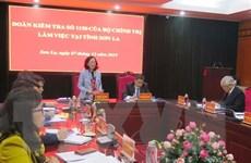 Đoàn kiểm tra của Bộ Chính trị làm việc tại tỉnh Sơn La