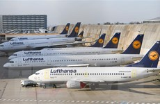 Đức: Nhân viên Lufthansa dọa sẽ bãi công sau Lễ Giáng Sinh