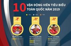 [Infographics] 10 vận động viên tiêu biểu toàn quốc năm 2019