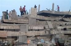 Đã có người chết trong vụ sập công trình đang thi công ở Campuchia