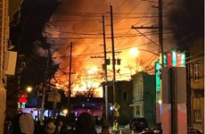 Mỹ: Hỏa hoạn lớn gây mất điện trên diện rộng ở bang New Jersey