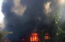 Lâm Đồng: Cháy lớn tại cơ sở Bảo trợ xã hội Mađaguôi