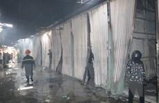 Quảng Ninh: Cháy chợ ở xã biên giới Hoành Mô, 11 kiốt bị thiêu rụi