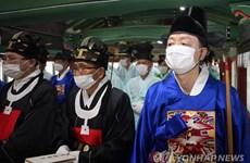 Hình ảnh người dân Hàn Quốc căng mình chống dịch COVID-19
