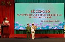 Công bố quyết định bổ nhiệm Giám đốc Công an tỉnh Lào Cai
