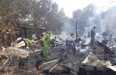 Lâm Đồng: Hỏa hoạn thiêu rụi xưởng gỗ ở trung tâm thị trấn Lộc Thắng