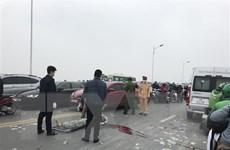Tai nạn chết người trên cầu Vĩnh Tuy, cảnh sát đang truy tìm thủ phạm