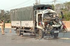 Bình Phước: Xe tải tông máy cày khiến 2 người chết tại chỗ