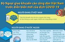 Các khuyến cáo của Bộ Ngoại giao với công dân về dịch COVID-19