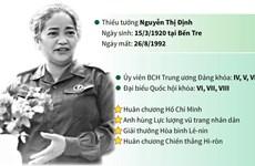 [Infographics] Nguyễn Thị Định - Huyền thoại một nữ tướng