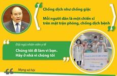 [Infographics] Những thông điệp lan tỏa tinh thần chống dịch COVID-19