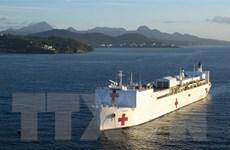 ''Bức tường thép'' trên biển của Mỹ chống lại dịch bệnh