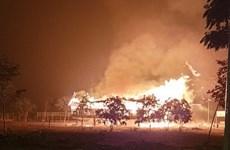 Kon Tum: Cháy rụi ngôi nhà rông văn hóa di tích quốc gia đặc biệt